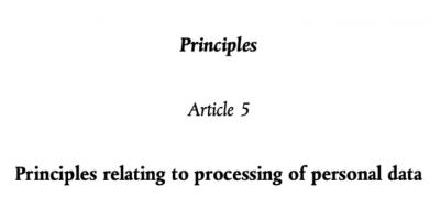 Principles Article 5
